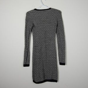 A.L.C. Dresses - A.L.C. Wool Sweater Dress Black White Knit XS